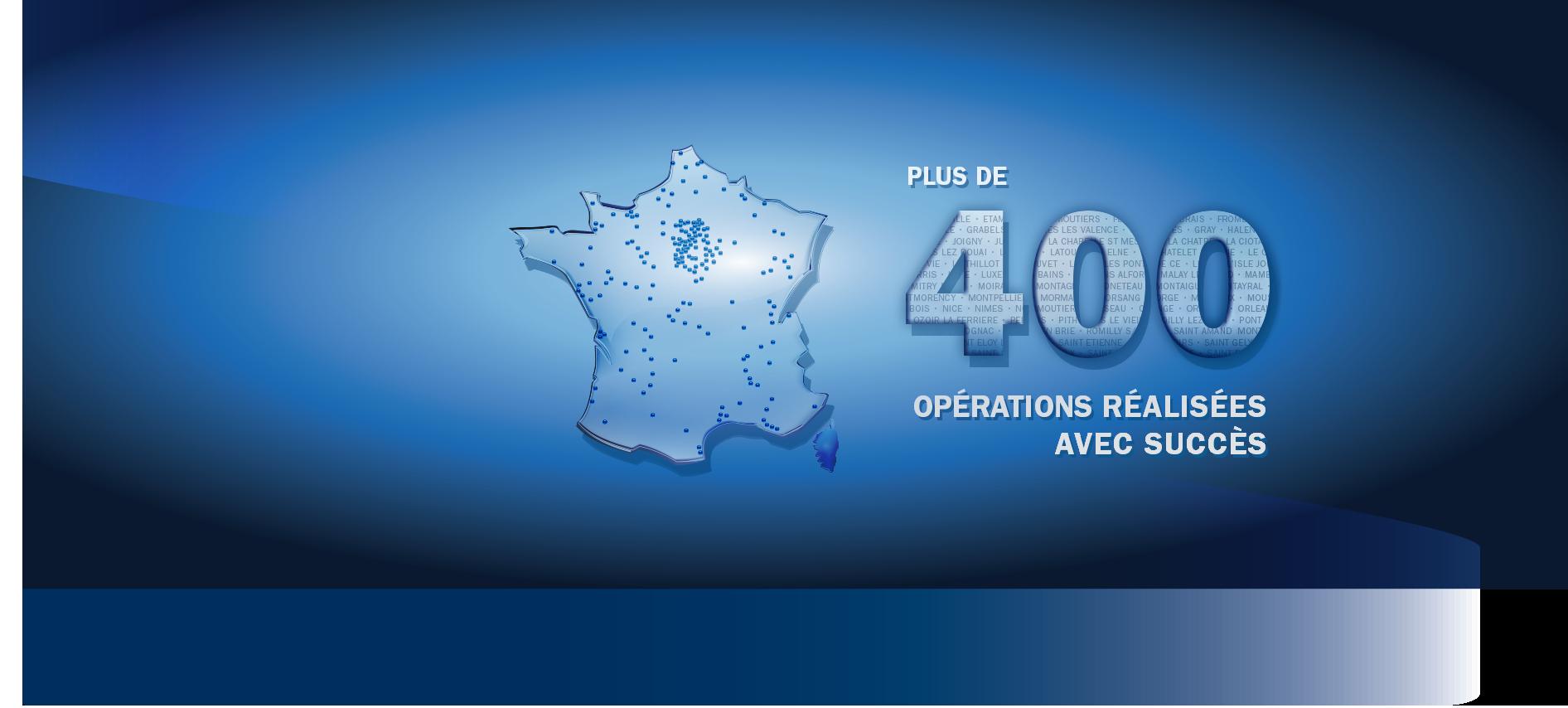 300 opérations réalisées avec succès